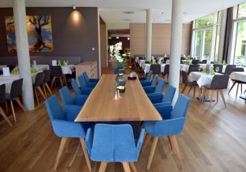 Moderne Akzente schmücken das neue Restaurant im Hotel St. Elisabeth
