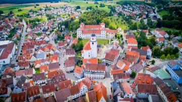 Schloss Meßkirch aus der Vogelperspektive