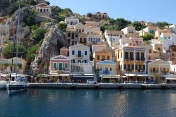 Die bunten Häuser von Symi