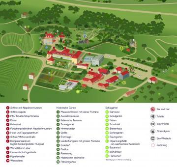 Übersichtsplan der Arenenberger Gartenwelt