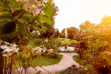 Unterer Landschaftspark mit grosser Fontäne