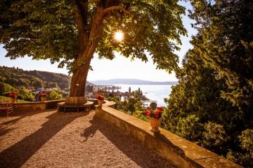 Aussichtsterrasse mit Blick über den See