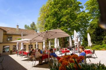 Innenhof des Bistro Louis Napoléon auf dem Arenenberg