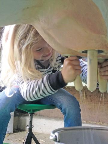 Kinderspass an der Melkattrappe beim Arenenberger Tag