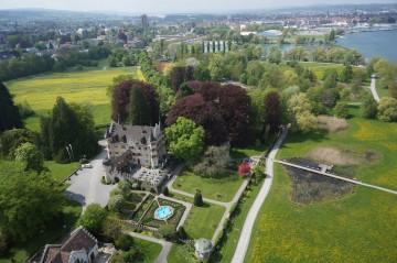 Schloss Seeburg von oben