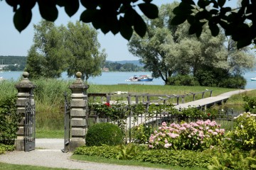 Seeburgpark Kreuzlingen mit Blick auf den See