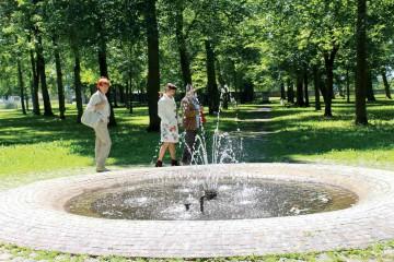Spaziergang durch den Hofgarten des Schlosses Meßkirch