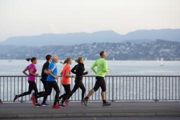 Marathon-Strecke in Zürich beschildert