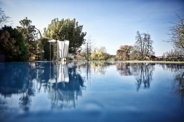 Der beheizte Pool des Hotel Gasthaus Hirschen