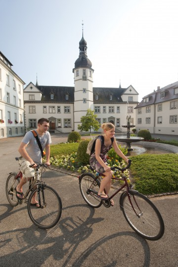 Start der Fahrradtour vom Kloster Hegne