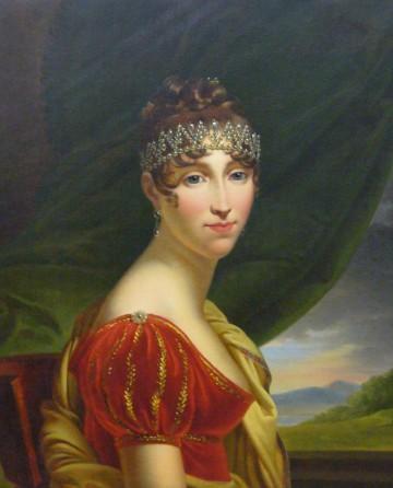 Hortense de Beauharnais in rotem Kleid