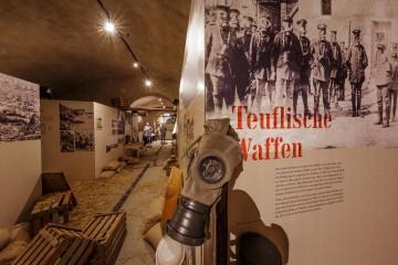 Ausstellungsteil im ehemaligen Weinkeller von Arenenberg