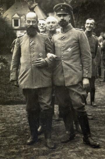 Leutnant Adolf Merk und Gefährte