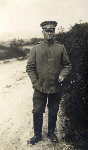 Vizewachmeister Richard Adler im Portrait