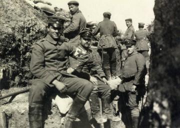 Richard Adler im Schützengraben