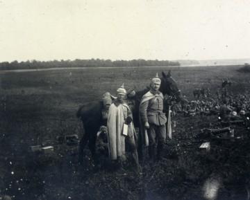 Soldaten an der Front in Saint-Baussant