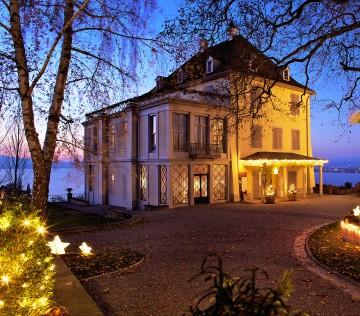 Das Arenenberger Napoleonschloss in weihnachtlichem Glanz