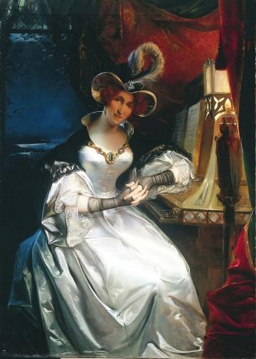 """Felix Cottreaus Gemälde """"Königin Hortense mit dem Talisman Karls des Grossen"""", von 1834"""