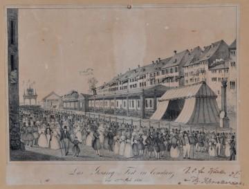 Die Marktstätte in Konstanz vor 180 Jahren