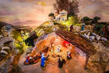 Jesu Geburt vor Bodensee-Parorama
