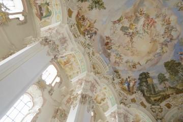 Deckenfresko in der Wallfahrtskirche Steinhausen