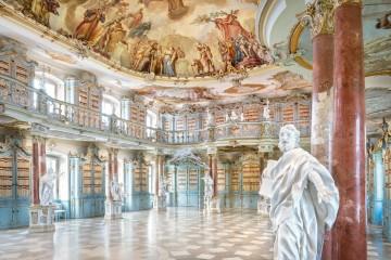 Der Bibliothekssaal im Kloster Schussenried