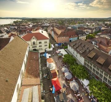 Blick auf den Radolfzeller Marktplatz