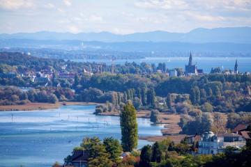 Blick auf den Seerhein und Konstanz