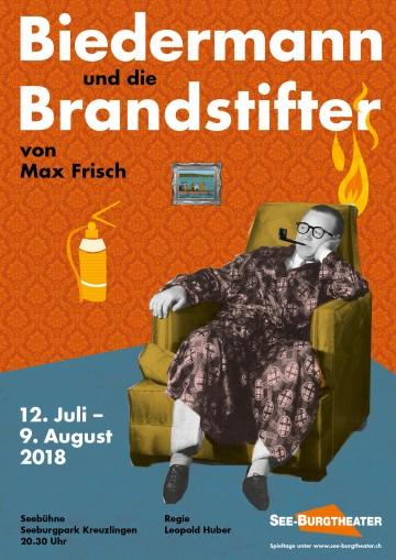 Plakat zu «Biedermann und die Brandstifter»