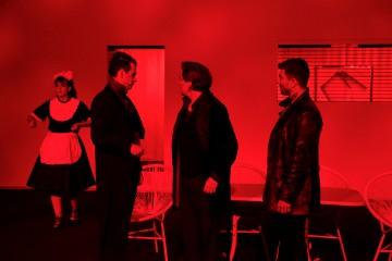In rotes Licht getaucht