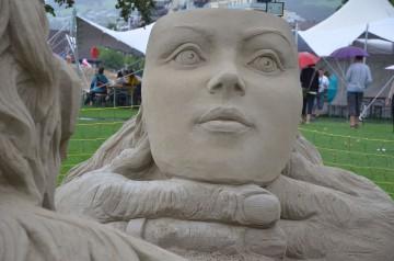 Kunst in Sand gesetzt