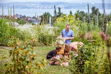 Apfelpresse auf dem Feierlenhof in Altnau