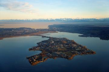 Luftbild Insel Reichenau im Untersee