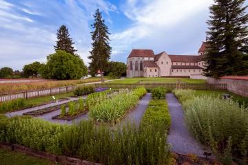 """Der rekonstruierte Klostergarten """"Hortulus"""" auf der Insel Reichenau"""