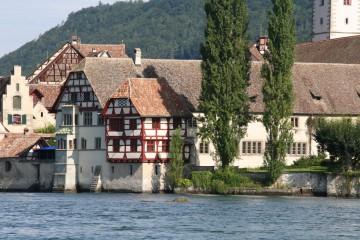 Blick auf das ehemalige Kloster St. Georgen
