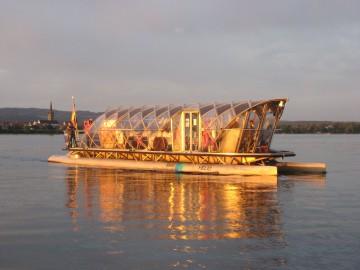 Mit der Solarfähre über den Untersee gleiten