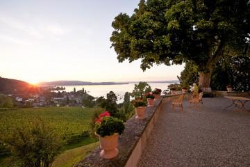 Herrlicher Blick von der Arenenberger Schlossterrasse