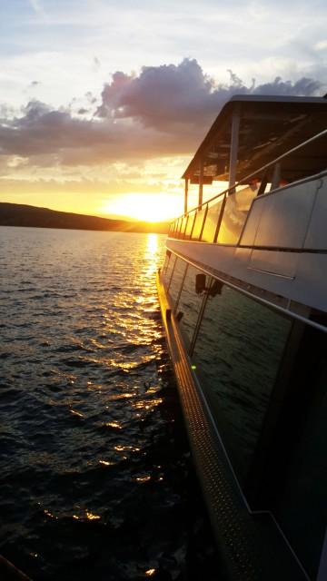 Mit der MS Seestern dem Sonnenuntergang entgegen