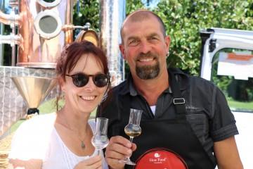 Slow Food Markt-Aussteller Thomas Burren mit seiner Frau Claudia Burren