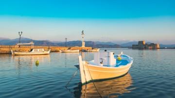 Der Hafen von Nafplio am Mittelmeer